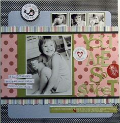 scrapbook ideas | Scrapbook Ideas from Top Designers - You Are So Sweet from Three Bugs ...