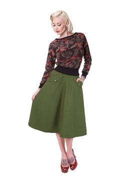 Florence Skirt, Grønn Holy smokes, så lekkert!