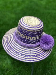 Excited to share the latest addition to my shop: New Purple Straw Summer Hat with Pompon/ Formal Hat/ Wide Brim Straw Hat/ Beach Hat/ Sun Hats/ Womens hats by YoLineXL Unique Vacations, Summer Hats For Women, Fall Fashion Trends, Fashion Edgy, Fashion Night, Brim Hat, Sun Hats, Everyday Fashion, Amazing Women