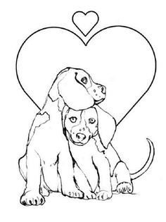 cute beagle dog coloring pages - photo#11