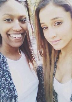 Ariana Grande with her fan