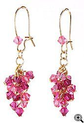 Jewelry Making Idea: Raspberry Cluster Earrings (eebeads.com)
