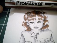 Going Buggy: Tutorial on colouring chestnut hair with Promarkers