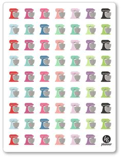 Stand Mixer Planner Stickers for Erin Condren Planner, Filofax, Plum Paper by KGPlanner on Etsy https://www.etsy.com/listing/255187827/stand-mixer-planner-stickers-for-erin