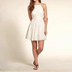 Girls Strappy Lace Skater Dress | Girls Dresses & Rompers | HollisterCo.com