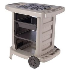 Suncast GC1500B Portable Outdoor Gardening Center with Interchangeable Shelves, Tool Storage And Utility Bin, Taupe Suncast http://www.amazon.com/Suncast-GC1500B-Portable-Gardening-Interchangeable/dp/B0012NAQX0/ref=sr_1_25?m=A29SKDSPISVLLR&s=merchant-items&ie=UTF8&qid=1427943682&sr=1-25