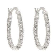 Inside-Out Cubic Zirconia Hoop Earrings- Sparkle & Jade-SparkleAndJade.com[product_sku]