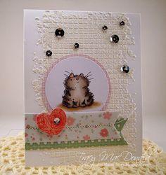 Soft kitty, warm kitty card by Tracy MacDonald
