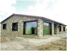 House On The Rock, My House, Stone House Plans, Modern Bungalow House, Old Stone Houses, Mexico House, Barn Renovation, Beautiful Home Designs, Beautiful Buildings