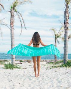 Teal Dreams Beach Towel from https://thebohemianshop.com
