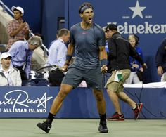 12-time grand slam winner Rafael Nadal wasn't even broken once on his way to booking a semi-final berth at the 2013 US Open. He defeated Tommy Robredo in straight sets in the quarter-final on September 4, 2013. (AP Photo)