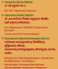 Hanuman Ji is Mantars Sanskrit Mantras, Hindu Mantras, Moola Mantra, All Mantra, Surya Namaskara, Gayatri Mantra, Lord Shiva Family, Jai Hanuman, Krishna Quotes