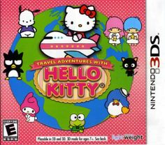 Travel Adventures with Hello Kitty - Nintendo Bergsala Light Weight Hello Kitty Games, Hello Kitty Clothes, Hello Kitty Bag, Nintendo 3ds Games, Wii Games, Kingdom Hearts Anime, Iphone Layout, 3d Mode, Games