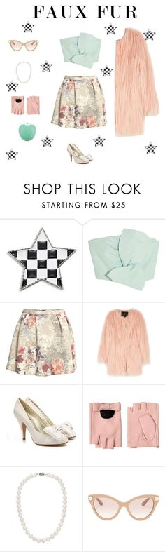 """""""FAUX FUR"""" by paulamarquez13 ❤ liked on Polyvore featuring Marc Jacobs, Delpozo, H&M, Unreal Fur, Karl Lagerfeld, Blue Nile, Valentino and Elisabeth Weinstock"""