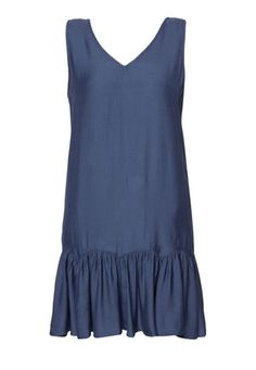 (Polyblend) Ruffle Hem Dress
