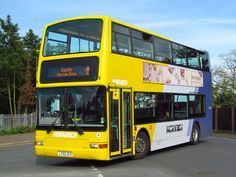 The June saw the unusual sight of a Yellow line decker on the 8 service in Great Yarmouth. It was Norwich based Trident 32106 First Bus, Great Yarmouth, Yellow Line, Trident, Coaches, Norfolk, Buses, Volvo, Transportation