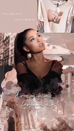 God is a Woman wallpaper Ariana Grande Background, Ariana Grande Wallpaper, Ariana Grande Cute, Ariana Grande Pictures, Ariana Grande Poster, Cat Valentine, Believe, Billie Eilish, Ariana Video