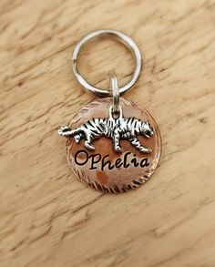 Tiger 7/8 Cat ID Tag by FetchAPassionTags on Etsy, $9.00