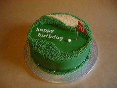 golf birthday cake. Think I'm gonna try this today