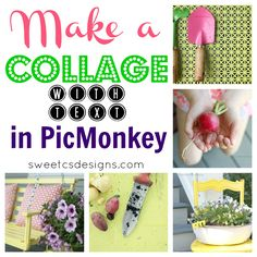 How to make a collage in picmonkey! So fast and easy to make great collages with text. Even a FB timeline cover photo!