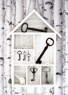 Nyckelskåp - Idébank - DIY - Make & Create    Ett till användningsområde för fina hushyllan. Gillar!