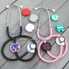 Monogrammed Stethoscope Name Tag ID Covers - Gift - Initial - Nurse ID Tag Cover Doctor Nursing Student - Gift - Nurses from CustomCreationsByCP on Etsy. Stethoscope Name Tag, Personalized Stethoscope, Doctors Stethoscope, Personalized Gifts, Stethoscope Cover, Rn Nurse, Nurse Life, Nurse Stuff, Nursing Accessories