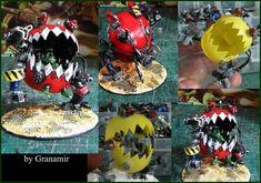 ork Killer squig kan by Granamir by Granamir on DeviantArt Warhammer Terrain, Warhammer 40k Art, Warhammer 40k Miniatures, Warhammer Figuren, Zombie Vehicle, Orks 40k, Ashley Wood, Miniture Things, Goblin
