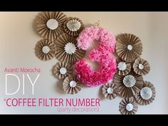 DIY Coffee Filter Number – Party Decoration