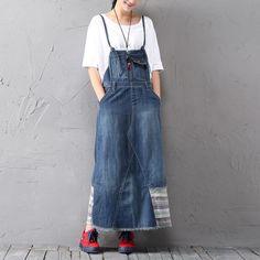 джинсовый сарафан | denim DIY