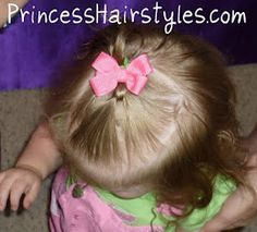 Quick knot ponytail tutorial for toddler girl