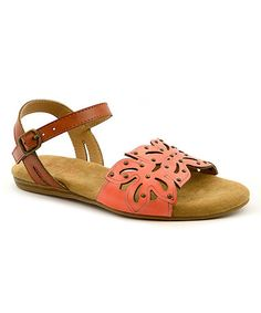Another great find on #zulily! Coral Sunny Sandal - Kids #zulilyfinds