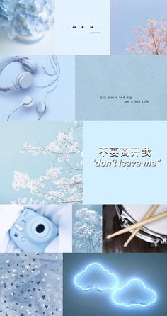 Light Blue Aesthetic Collage