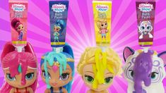 Learn COLORS with Shimmer and Shine Bath Paint Nick Jr Bathtime Toys Fro...