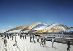 Image 3 of 6 from gallery of Twelve Architects to Design Airport in Russia for 2018 World Cup. Courtesy of Twelve Architects & Masterplanners Stair Detail, Roof Detail, A As Architecture, Rostov On Don, Steel Structure Buildings, Airport Design, Study Room Design, Passive Design, Entrance Design