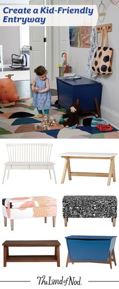 We love to create designs for the family. Meaning, we design furniture that's stylish and functional for both kids and adults. That's why our benches and toy boxes are a versatile storage piece for the entryway. You can organize all of your on-the-go essentials in in one kid-friendly piece of furniture.