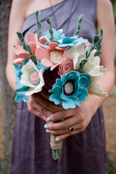 Felt Wedding Bouquet