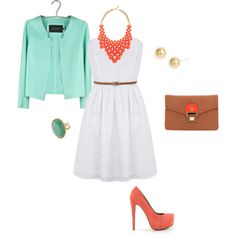 coral and mint....really pretty