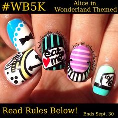 LESS THAN 2 WEEKS UNTIL THIS ENDSif you have already tagged 3 friends in any of the previous posts you do NOT have to retag hereMust be following me (@w0nderlandbby)TAG 3 FRIENDS IN THE COMMENTS BELOW (to spread word of this contest)Theme: Alice in Wonderland inspired nail art designsNO stamping or decals of any sortONE (1) entry per personUpload your entry using the hashtag ABOVE (wb5k) as well as tagging me IN THE CAPTION (please do NOT tag me in the photo)US onlyPublic profiles please so…