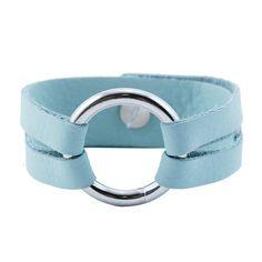 Fab.com | Mini Leather Bracelet Mint by Reagan Rowland for Henri Lou