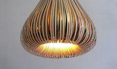 Paula Arntzen, Bulbous Paper Lamps, paper lamp design, lighting fixtures, green paper lamp, sculptural lamp design