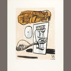 Charles Jeanneret (LE CORBUSIER) (French, 1887-1965) Unite No.4 Aquatint in colours, 1953, on BFK Rives, signed and inscribed XXVII/XXX in pencil, published by A C Mazo, Paris, 572 x 453 mm (22 1/2 x 17 3/4in) (SH) (unframed) Estimate: £1,800 - 2,200 €2,200 - 2,700 US$ 2,800 - 3,400