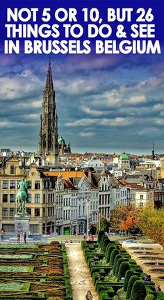 Great list of things to do in Brussels - Museums, attractions, food/drinks, and even activities for kids.