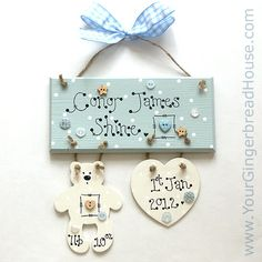 Your Gingerbread House - Baby Signs - handmade wooden signs and canvases