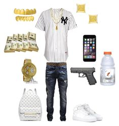 """""""((School Flow)) ~Trey Savage"""" by chiefkeefsosa ❤ liked on Polyvore featuring Mister, Jack & Jones, Louis Vuitton, NIKE and Michael Kors"""