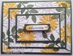 Stampin' Up Secret Garden Triple Time Stamping Card