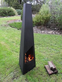 Steel - Metal chiminea - Chimenea - Outdoor Wood Fire P...