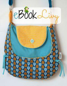 Nähanleitungen Taschen - Ebook Tasche Livy , Nähanleitung, Schnitt - ein Designerstück von LunaJu bei DaWanda