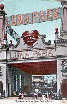 Entrance to Luna Park, Coney Island, NY