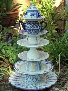 Alice in Wonderland garden tea party