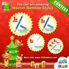 Contest! You can win amazing Wacom Bamboo Stylus! http://123kidsfun.com/news.html